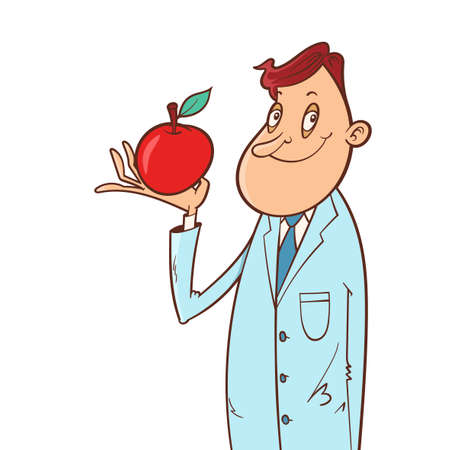 Doctor and apple