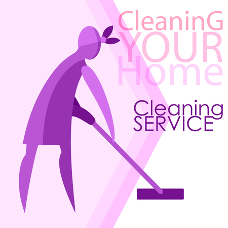 Vector image of women. Cleanliness, cleaning.