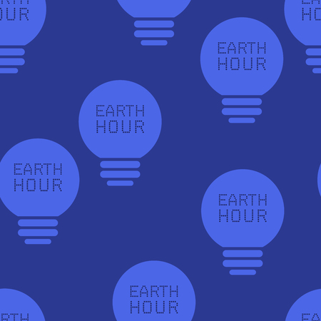 background of light bulbs with the inscription earth hour