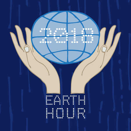 a poster of earth hour  イラスト・ベクター素材