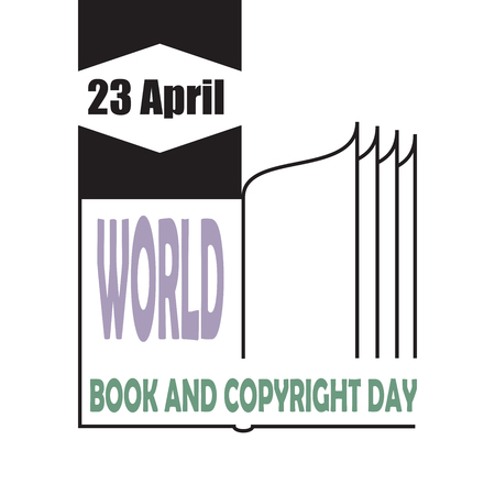 Logo of the world book and copyright day.