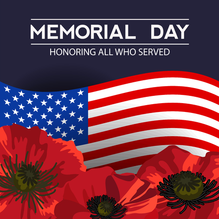 Memorial day in the United States. Vector layout for greeting cards, banners, posters.
