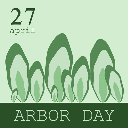 Creative concept illustration for the celebration of Arbor Day.