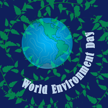 World environment Day. Our home planet Earth. Favorable environment, protection of nature. Reklamní fotografie - 100411599