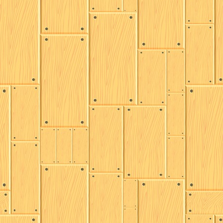 Modern seamless pattern of wooden planks with bevel. Warm palette, wood texture for the design of fabric, wrapping paper, wallpaper.