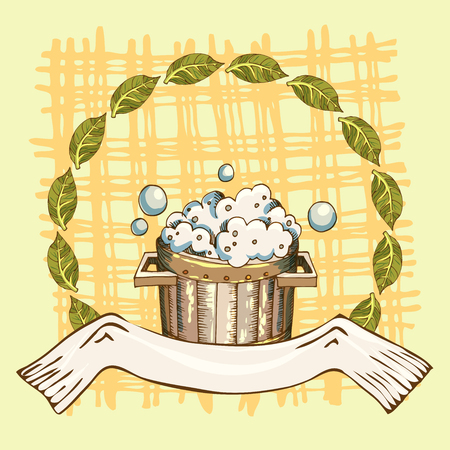 The concept of the hygiene of the body and health. Set of objects for face and body care, rejuvenation. Culture symbols of purity. Vector illustration in the style of sketching