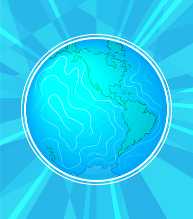 International peace day. September 21st. Background template for poster or Banner design. Peaceful planet Earth in a round frame of stylized branches. Vector illustration