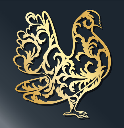 Laser template for a wedding pendant, dangler for pigeon-shaped vinyl cutting. The decor is a stylized openwork pattern of flowers and branches. The image is suitable for laser cutting, cutting or printing a plotter