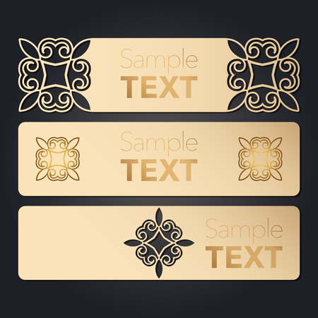 Set of blank paperwork paper tags, labels, stickers for laser cutting. Separate elements of various forms. Flat design. Vector illustration