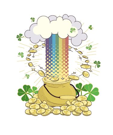 Poster for the Irish holiday St. Patrick s Day. A traditional symbol of festivities in Ireland. Vector illustration for the design of cards, invitations, congratulations, banners, pages in a flat style. Иллюстрация