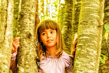 everyday scenes: Little Girl in the Forest