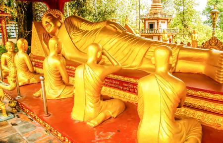 Giant reclining Buddha in Angkor Wat Temple