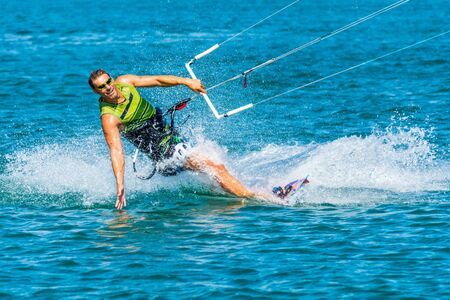 kiting: Enjoying kiting in the sea