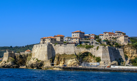 everyday scenes: Old town of Ulcinj, Montenegro