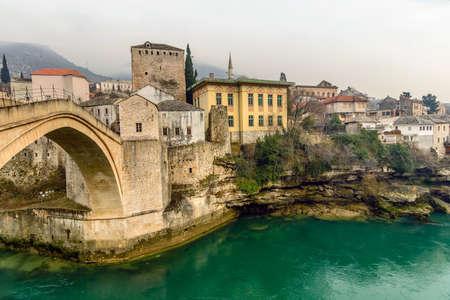 The Old Bridge in Mostar, Bosnia and Herzegovina photo