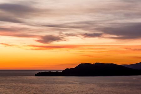 Beautiful sunset in Budva, montenegro