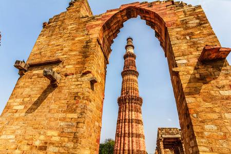 minar: Qutub Minar Tower, Delhi India