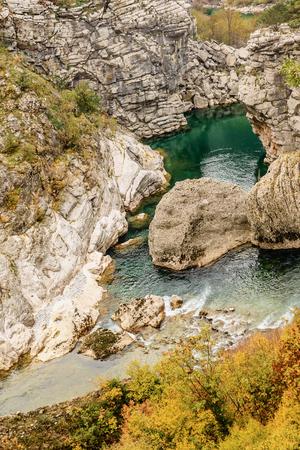 montenegro: Canyon Moraca in Montenegro, Europe Stock Photo