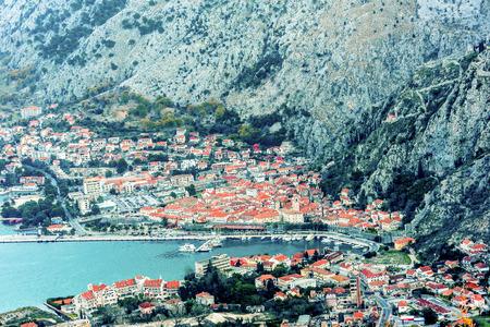 boka: Kotor old town and Boka Kotorska Bay in the early morning, Montenegro