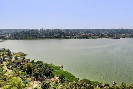 View of Lake Victoria and Mwanza , Tanzania 版權商用圖片