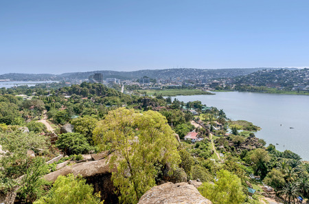 mwanza: View of Lake Victoria and Mwanza , Tanzania Stock Photo