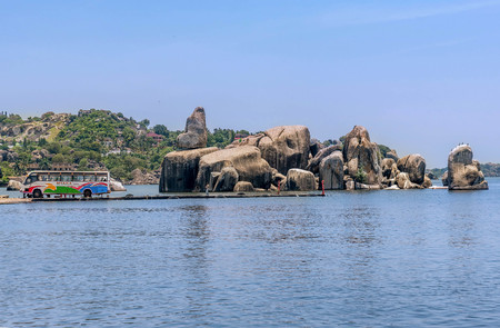 Rocks on the shore of Lake Victoria, Tanzania