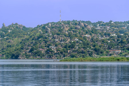 mwanza: Hills and Rocks with houses in Mwanza on the shore of Lake Victoria, Tanzania