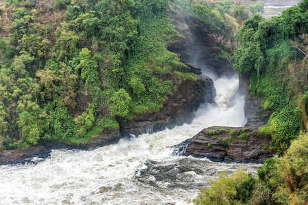 View of Murchison Falls on the Victoria Nile river National Park, Uganda Standard-Bild