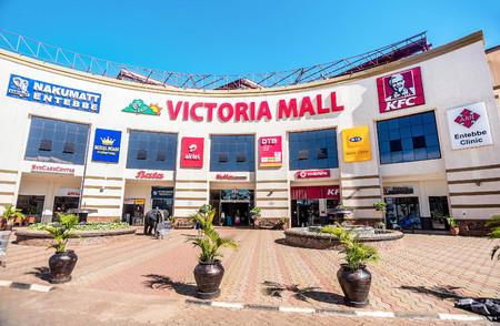 famous industries: Entebbe, Uganda- April 5, 2016: Shopping Mall in Entebbe town, Uganda Editorial