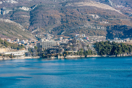 prestigious: Residential complex Dukley Gardens in Budva, Montenegro Stock Photo