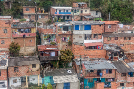 slums: Slums in the city of Medellin, Colombia