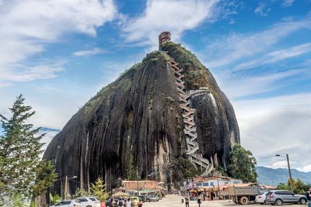 geological formation: Rock of Guatape, Piedra de Penol, Colombia Editorial