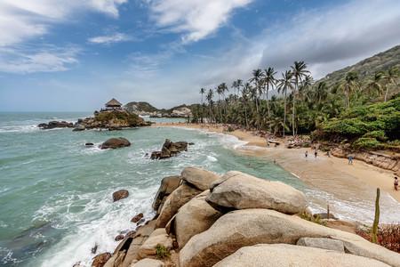 marta: Beach at Tayrona National Park Santa Marta in Colombia