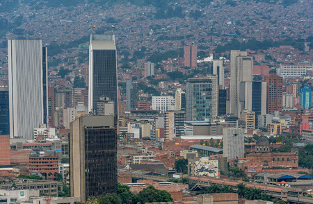 Aerial view of Medellin city, Colombia