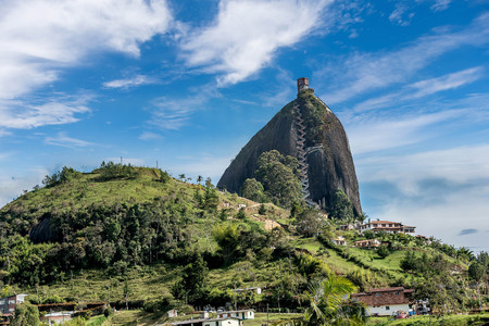 Rock of Guatape, Piedra de Penol, Colombia Stock Photo