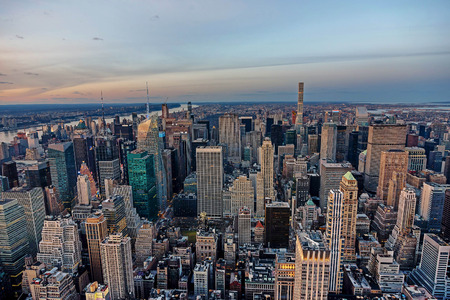 Manhattan skyline from above, New York City