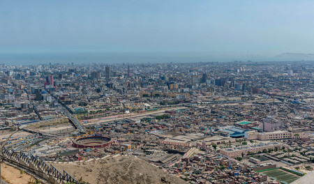 Aerial view of cityscape of Lima, Peru