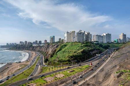 The Pacific coast of Miraflores in Lima, Peru Stock Photo
