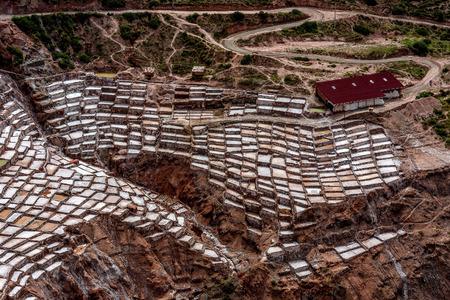 Artisan Salt mine in Cusco, Peru