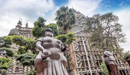 recently: Medellin, Colombia- March 5, 2017: Fernando Botero Sculpture on Plaza Botero, Medellin, Colombia