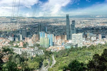 Luchtfoto van Bogota, Colombia