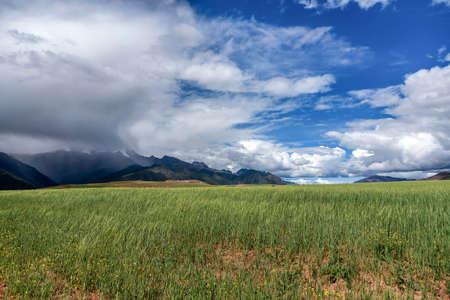 urubamba valley: Sacred Valley. Cusco Region, Urubamba Province, Peru Stock Photo