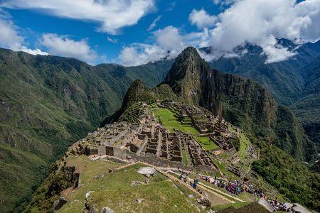 ペルーのマチュ ・ ピチュの遺跡