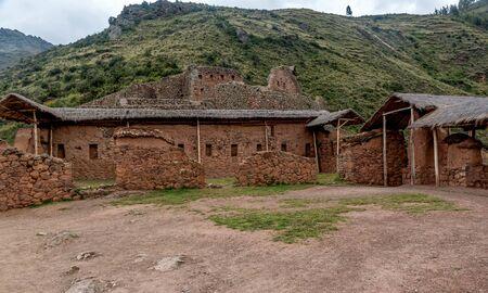 Agricultural terraces of Inca ruins of Pisac, Peru