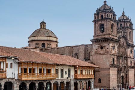 Cusco, Peru- March 16, 2017:La Compania de Jesus ( Company of Jesus ) Church in Cusco, Peru