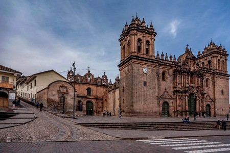 Cusco, Peru- March 16, 2017:Cusco Cathedral ( Nuestra Sra. de la Asuncion ), Peru