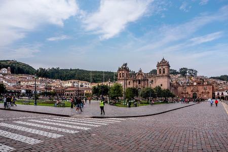 Cusco, Peru- March 16, 2017:Plaza de Armas, Cusco, Peru Editorial
