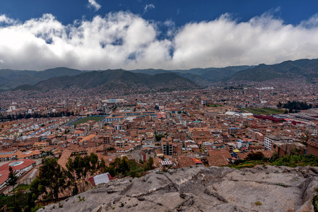 Panoranic view of Cusco Heritage site, Peru