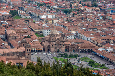 Panoranic view of Cusco Heritage site, Peru