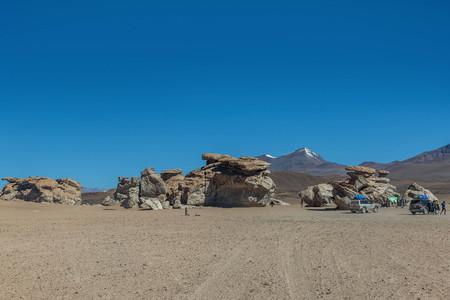 Rock formations at Salar de Uyuni, Bolivia